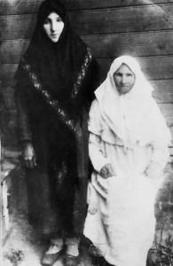 Схимонахиня Серафима и её послушница Александра