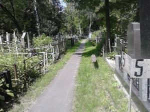Проход к могилке блаж. Екатерины