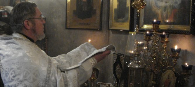 Рождественская литургия в храме св. блж. Ксении Петербургской и Рождественское поздравление настоятеля