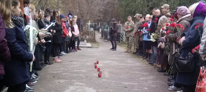 Торжественный митинг и панихида на Святошинском кладбище в день 75-летия со дня освобождения г. Киева от немецко-фашистских захватчиков
